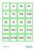 Ordinal Numbers, Roman Numerals, Tally Mark Math Memory Pa