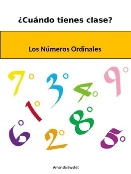 Ordinal Numbers to say what hour you have class