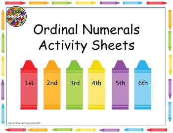 Ordinal Numerals Activity Sheets
