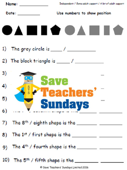 Ordinal numbers lesson plans, worksheets and more