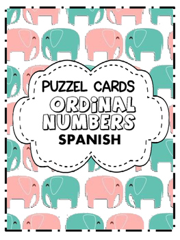 Ordinal numbers puzzle (Spanish)