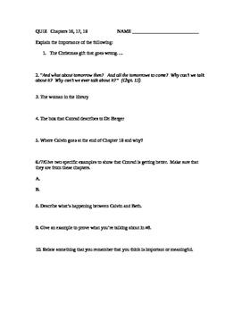 Ordinary People: Quiz ch. 16-18