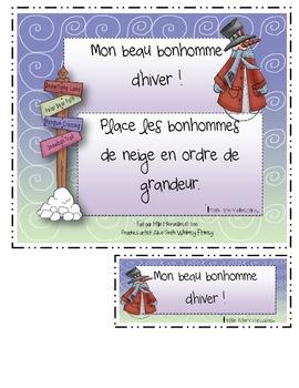 Ordre de grandeur Petits et grands (activities math french