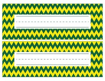 Oregon Ducks Inspired Green and Yellow Editable Name Plate