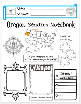 Oregon Notebook Cover