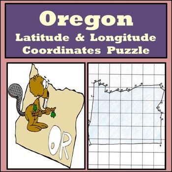Oregon State Latitude and Longitude Coordinates Puzzle - 3