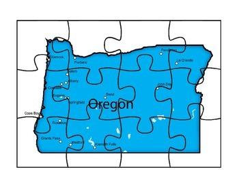 Oregon State Puzzle Map Fun
