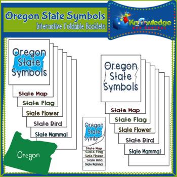 Oregon State Symbols Interactive Foldable Booklets