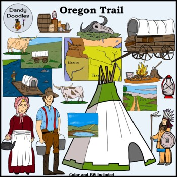 Oregon Trail Clip Art by Dandy Doodles