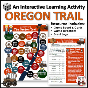 Oregon Trail Game Board Activity