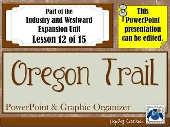 Oregon Trail PowerPoint and Graphic Organizer