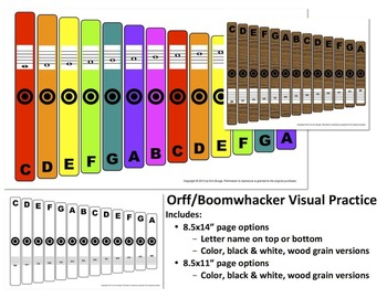 Orff / Boomwhacker Visual Bundle