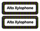 Orff Instrument Labels-Polka Dot