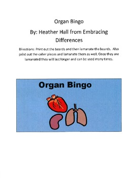 Organ Bingo
