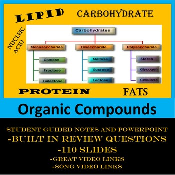 Organic Compounds(Carbohydrates, Proteins, Lipids, and Nuc