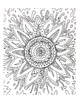 Organic Flower Coloring Sheets 11 pack