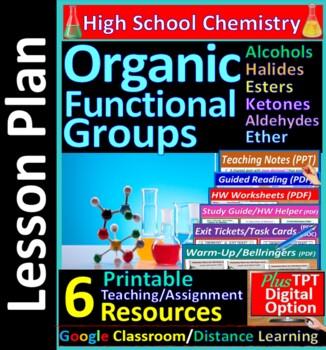 Organic Functional Groups; Alcohols Halides.. - Worksheets