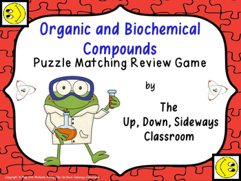 Organic and Biochemical Compounds Puzzle Matching Review Game