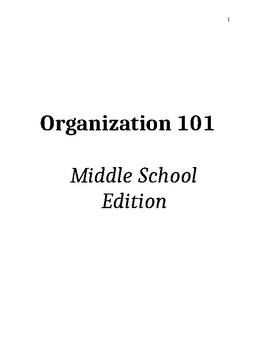 Organization 101 for Middle School Students