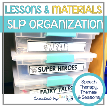 Speech and Language Organization Labels for Therapy Lesson