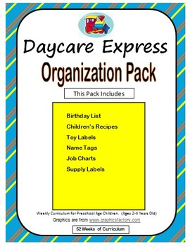 Organization Pack (Birthday Poster, Classroom Jobs, Name T