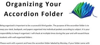 Organization Using an Accordion Folder