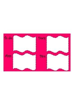 Organizational Desktop Wallpaper: Hot Pink
