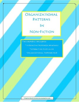 Organizational Patterns: Study guide, interactive notebook