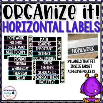 Organize It labels!