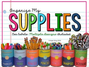 Organize My Supplies: Can Labels