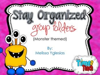 Organized Group Folders {Monsters Theme}