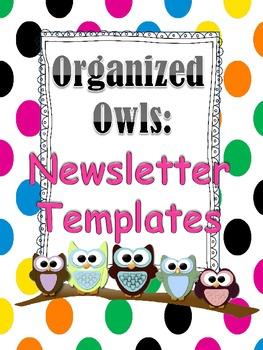 Organized Owls: Bubble Newsletters