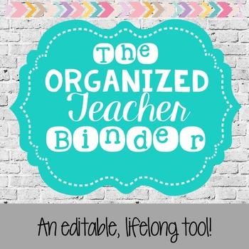 Organized Teacher Binder