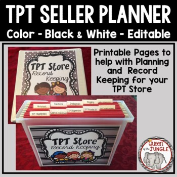 TPT Business Planner Binder For Products Blog Posts and More