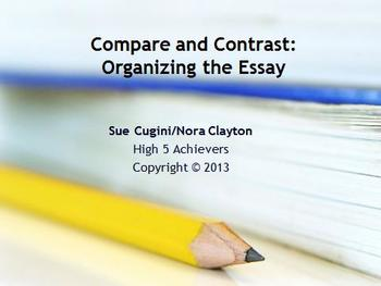 Organizing the Compare and Contrast Essay