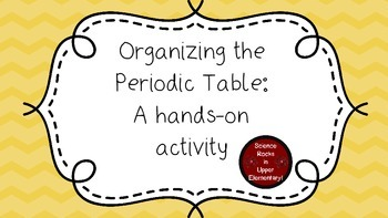 Organizing the Periodic Table:  A hands-on activity