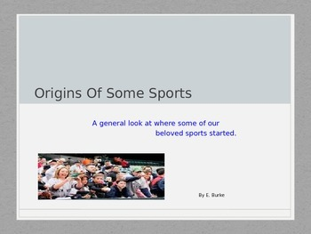 Origin Of Some Sports