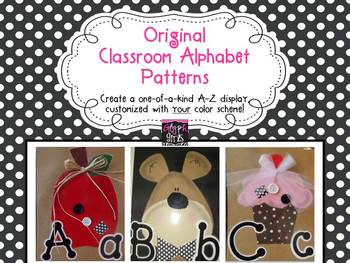 Original Classroom Alphabet Patterns by Glyph Girls