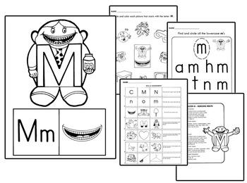 Original Letter People Worksheets - Spelling Reading Hando