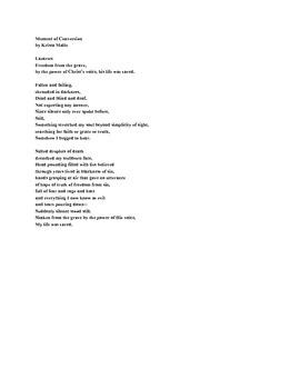 Original Poetry, Alliteration Sample, Christian Theme