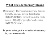 Origins of Democracy PPT