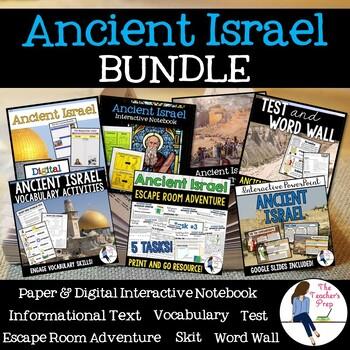 Origins of Judaism Interactive Notebook and Task Cards Bundle