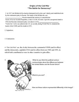Origins of the Cold War Notesheet