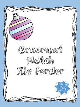 Ornament Match File Folder FREEBIE!