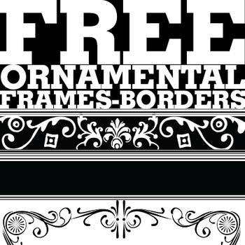 Ornamental Elements - Borders / Frames  -FREEBIE-