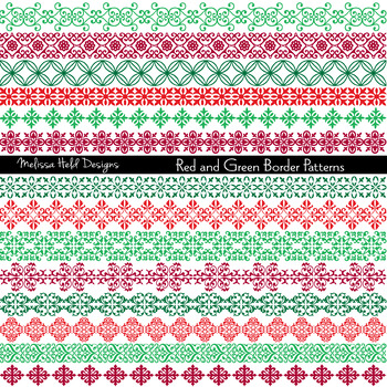 Clipart: Ornate Christmas Border Patterns Clip Art