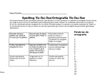 Ortografia Tic-Tac-Toe
