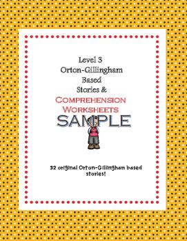 Orton-Gillingham Based Stories & Comprehension Sheets: Lev