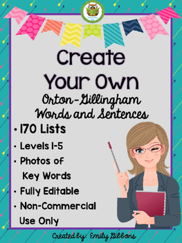 Multisensory Phonics Orton-Gillingham EDITABLE Words and S