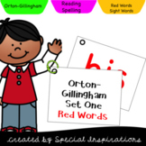 Orton-Gillingham Level 1 and 2 Red Words Flip Cards